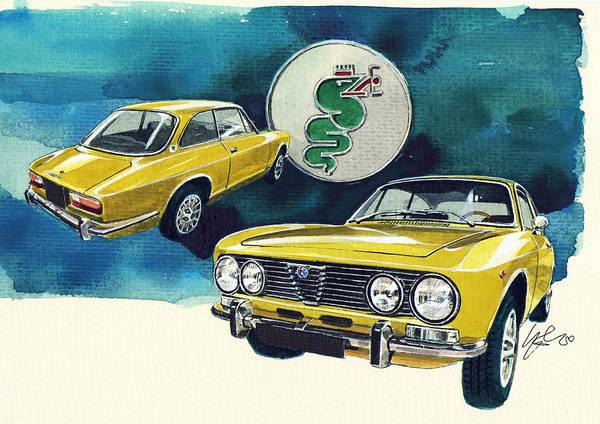 Alfa Romeo Painting - Alfa Romeo 2000 by Yoshiharu Miyakawa