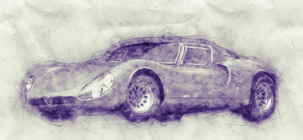 Four Wheeler Mixed Media - Alfa Romeo 33 Stradale 1 - 1967 - Automotive Art - Car Posters by Studio Grafiikka