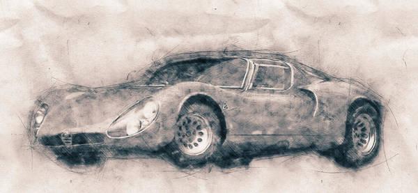 Garage Decor Mixed Media - Alfa Romeo 33 Stradale - 1967 - Automotive Art - Car Posters by Studio Grafiikka