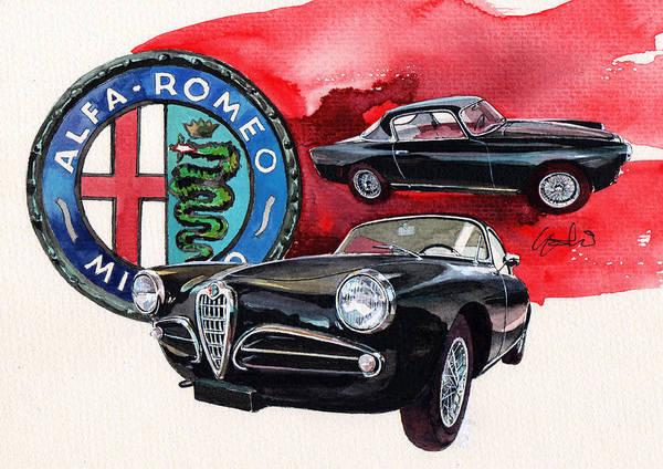 Alfa Romeo Painting - Alfa Romeo Super Sprint C by Yoshiharu Miyakawa