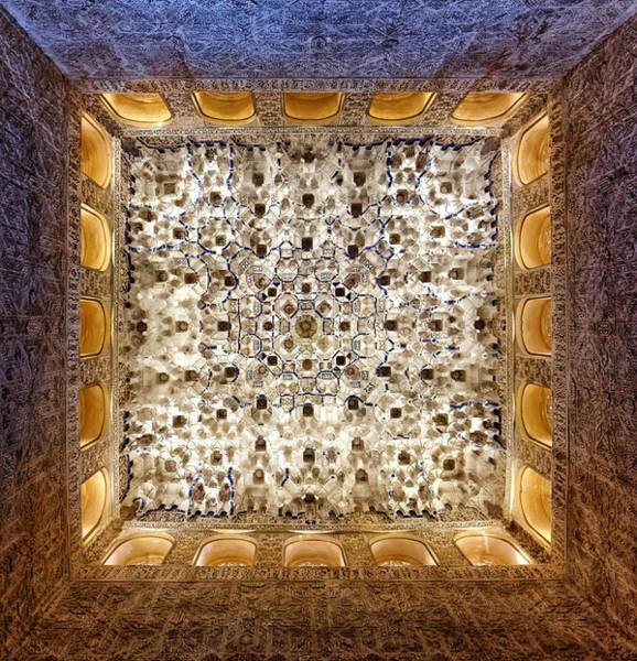 Photograph - Alhambra Ceiling Art by Adam Rainoff