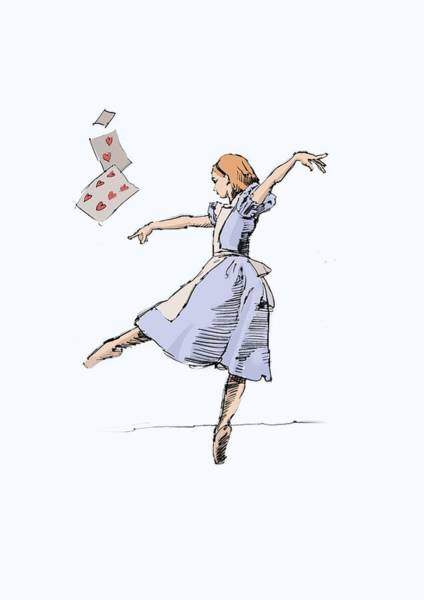 Alice Drawing - Alice by H James Hoff