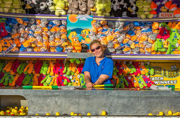 Carnies Photograph - All Her Ducks In A Row by Steve Harrington