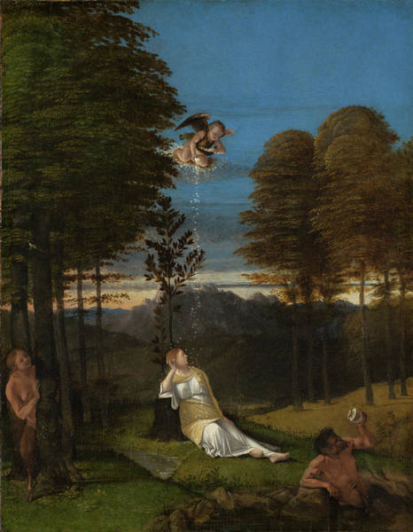 Painting - Allegory Of Chastity by Lorenzo Lotto