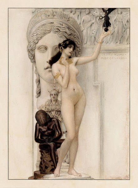 Wall Art - Painting - Allegory Of Sculpture by Gustav Klimt