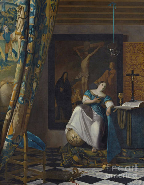 Orb Painting - Allegory Of The Faith by Jan Vermeer