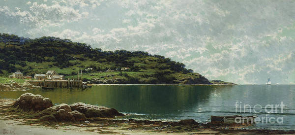 Tranquility Painting - Along The Maine Coast by Alfred Thompson Bricher