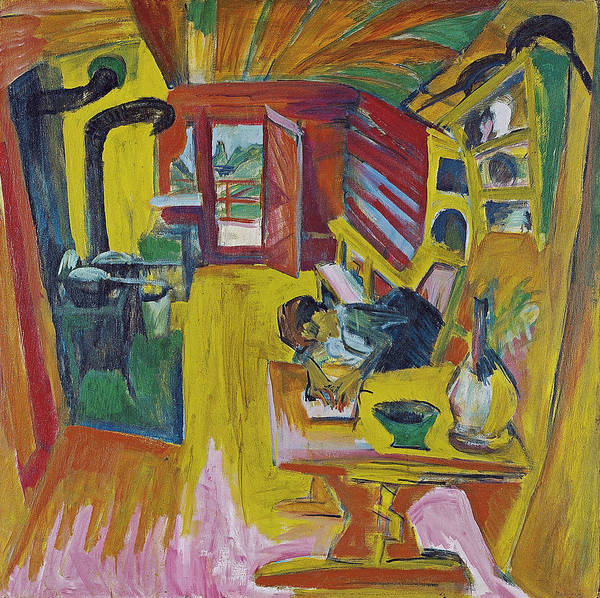 Painting - Alpine Kitchen by Ernst Ludwig Kirchner