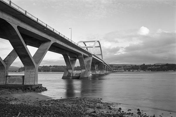 Photograph - Alsea Bay Bridge by HW Kateley