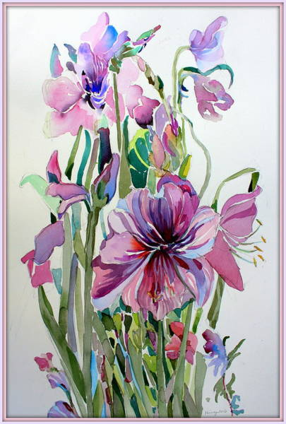 Wall Art - Painting - Amaryliss by Mindy Newman