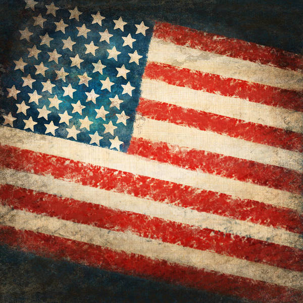 Dirty Painting - America Flag by Setsiri Silapasuwanchai
