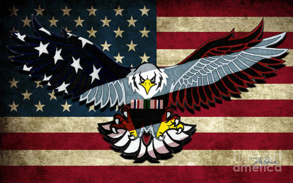 Drawing - American Eagle by Bill Richards