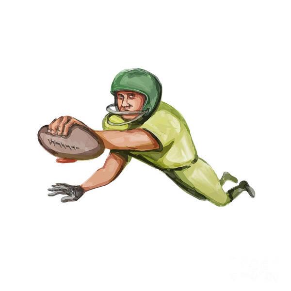 Sportsman Digital Art - American Football Player Touchdown Caricature by Aloysius Patrimonio