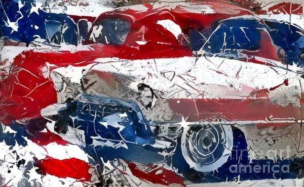 Super Car Mixed Media - American Made by Douglas Sacha