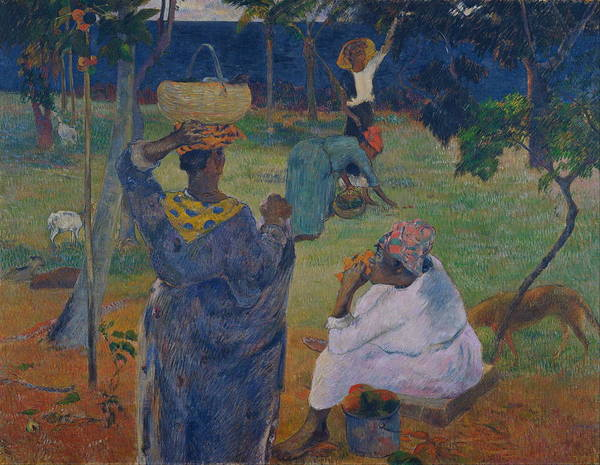 Pickers Wall Art - Painting - Among The Mangoes At Martinique by Paul Gauguin