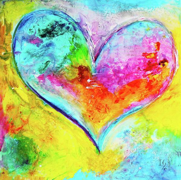 Wall Art - Mixed Media - Amor Fiel by Ivan Guaderrama