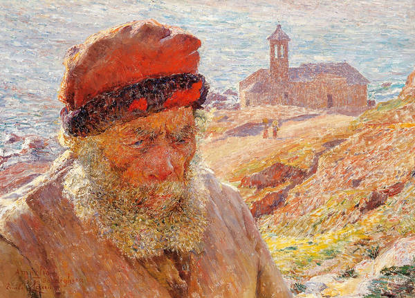 Painting - Ampelio, Old Fisherman Of Bordighera by Emile Claus