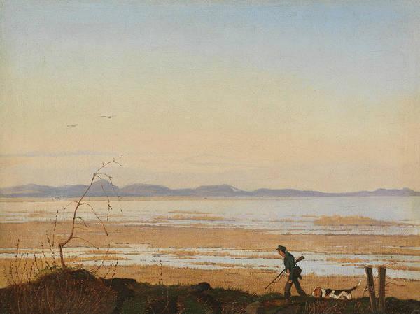 Painting - An Evening Beside Lake Arreso by Johan Thomas Lundbye