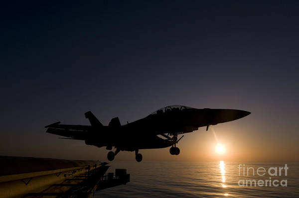 Uss Hornet Painting - An F A-18f Super Hornet by Celestial Images
