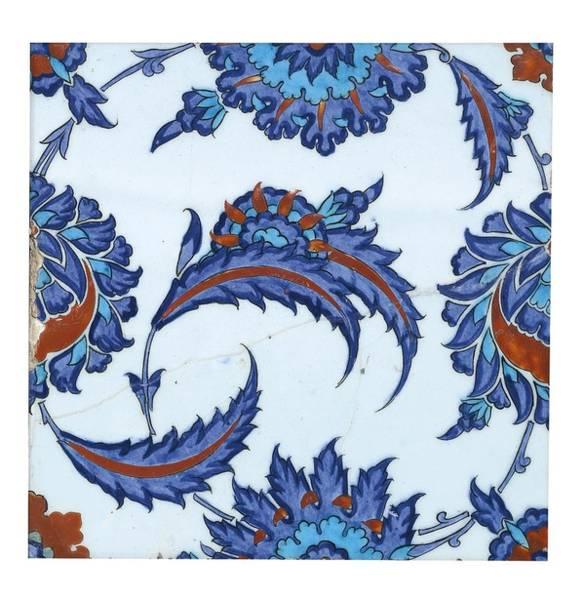 An Iznik Polychrome Pottery Tile Art Print