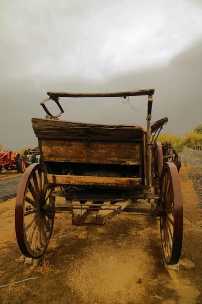 Wagon Wheel Photograph - An Old Wagon by Jeff Swan