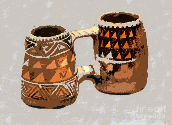 Anasazi Painting - Anasazi Double Mug by David Lee Thompson