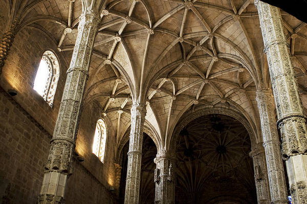 Photograph - Lisbon Cathedral's Ancient Arches  by Lorraine Devon Wilke