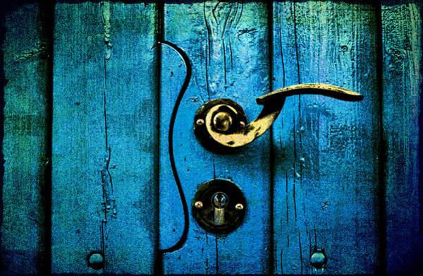 Ancient Blue Door Art Print