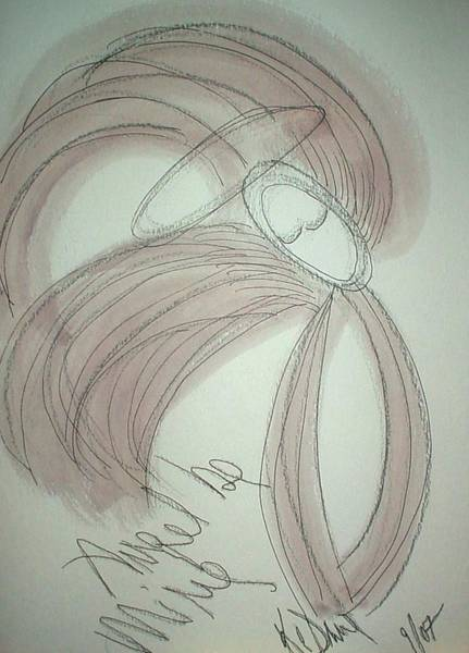 Dane Mixed Media - Angel Be Mine by KC Dane