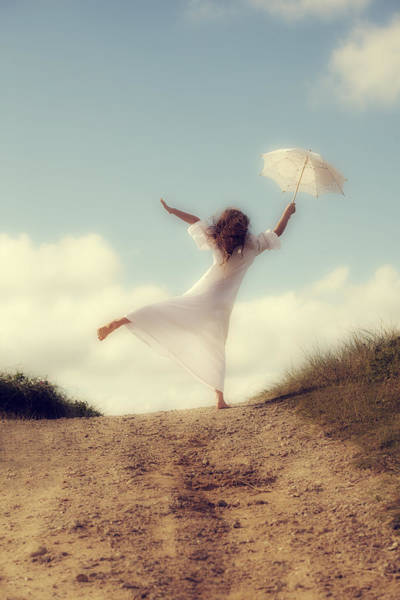 Angelic Photograph - Angel With Parasol by Joana Kruse