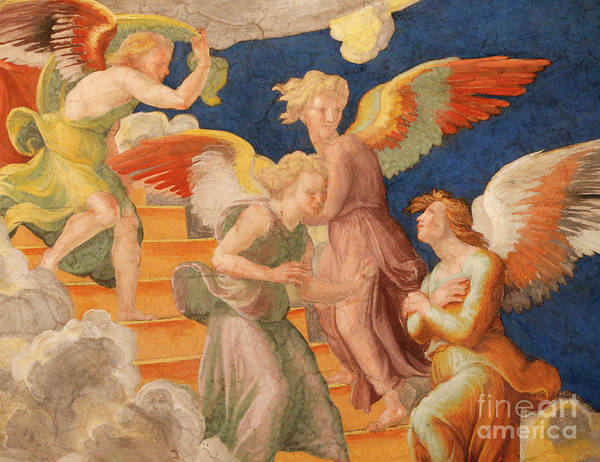 Angelic Painting - Angels by Italian School