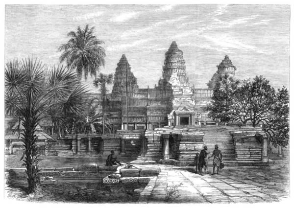 Wall Art - Photograph - Angkor Wat, Cambodia, 1868 by Granger
