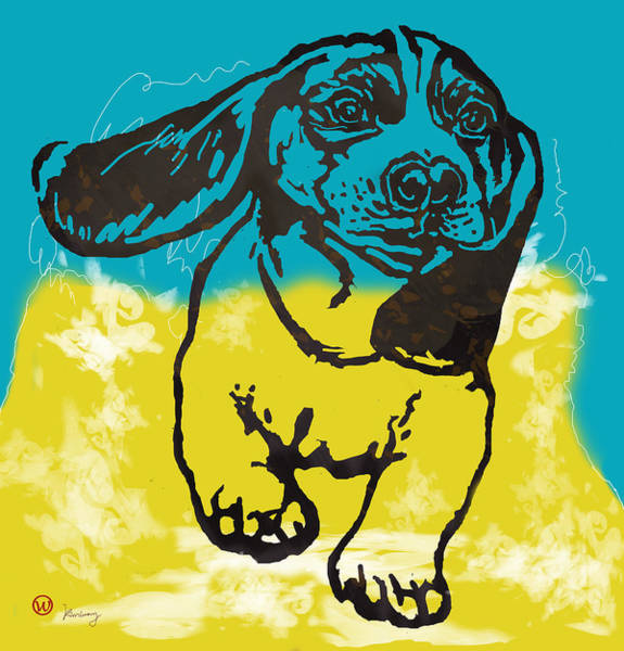 Furry Drawing - Animal Pop Art Etching Poster - Dog - 11 by Kim Wang