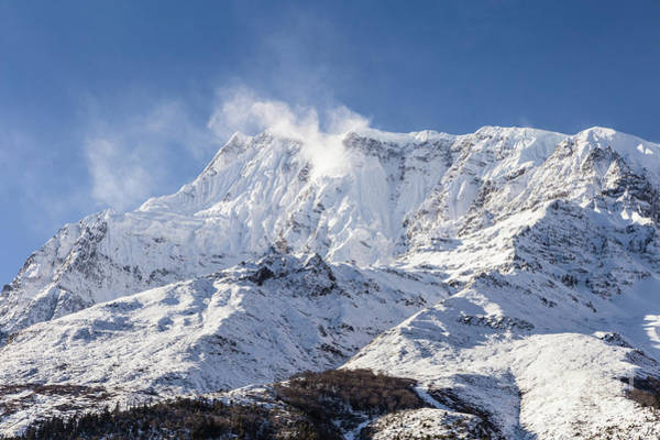 Photograph - Annapurna IIi Peak In The Himalayas In Nepal by Didier Marti