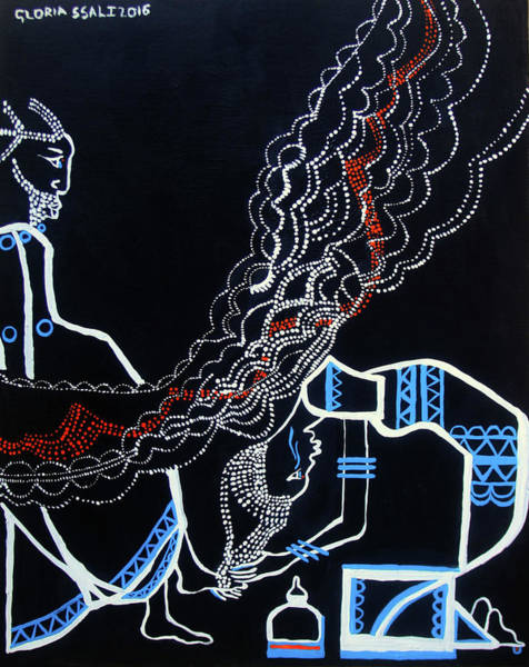 Painting - Anointing Of Jesus Christ by Gloria Ssali