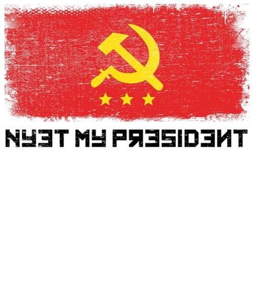 Midterm Wall Art - Digital Art - Anti Trump Art Impeach President Resist Putin Light by Nikita Goel