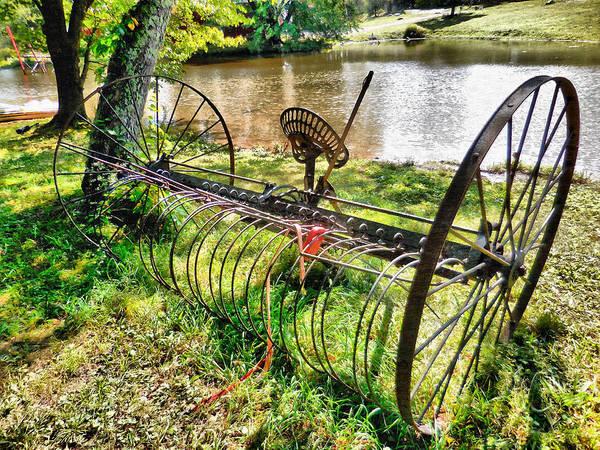 Scrap Iron Digital Art - Antique Farm Equipment 2 by Jeelan Clark