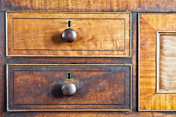 Compartments Photograph - Antique Furniture by Tom Gowanlock