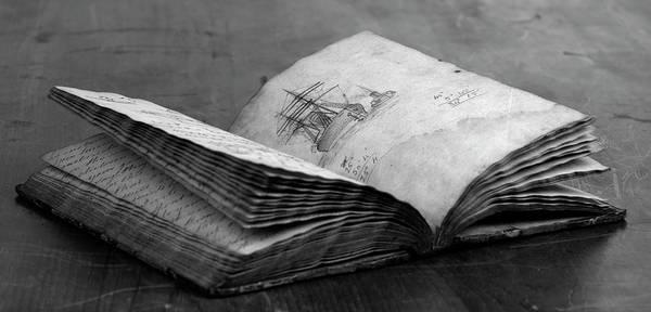 Antique Notebook Art Print