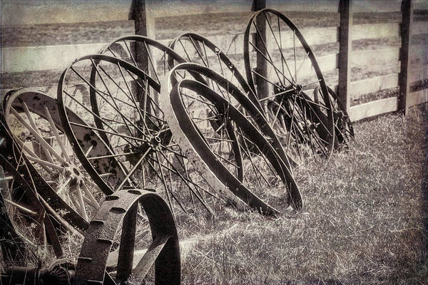 Wall Art - Photograph - Antique Wagon Wheels I by Tom Mc Nemar