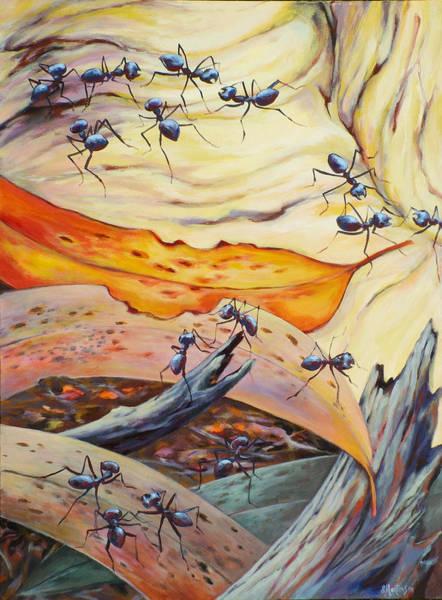 Wall Art - Painting - Ants Landscape by Ekaterina Mortensen