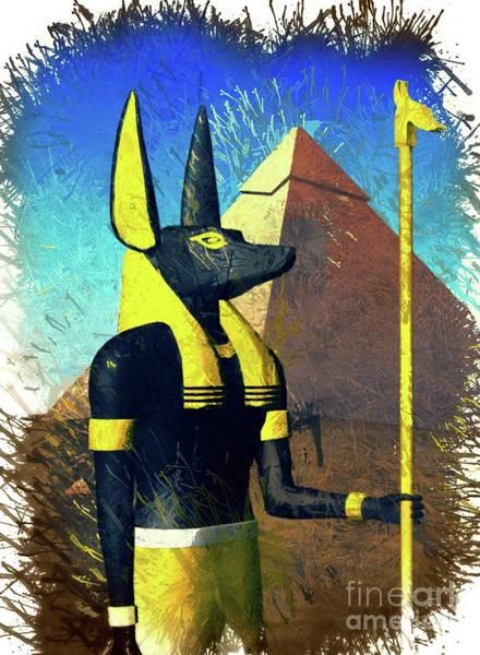 Wall Art - Digital Art - Anubis, God Of Egypt by Raphael Terra