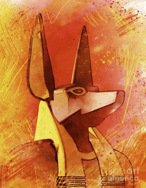 Wall Art - Painting - Anubis - Jackal God Of Ancient Egypt by Pierre Blanchard