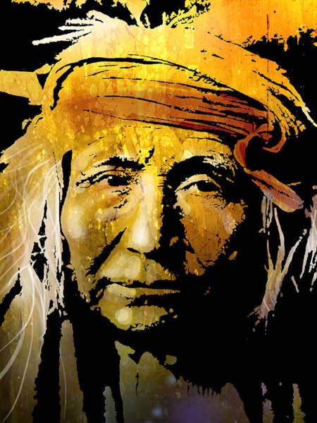 Wall Art - Painting - Apache Brave by Paul Sachtleben