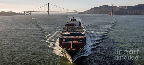 Daewoo Wall Art - Photograph - Apl Korea Container Ship by David Oppenheimer