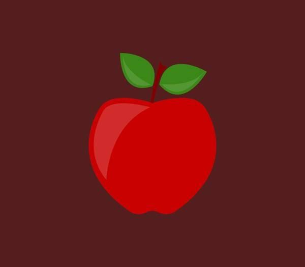 Red Digital Art - Apple by Marco Livolsi