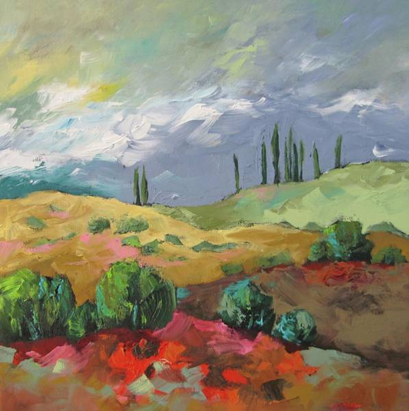 Monfort Painting - Approaching Sundown by Linda Monfort