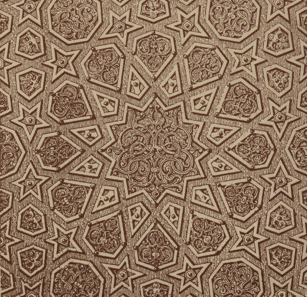 Arabian Drawing - Arabian Textile Pattern by Arabian School