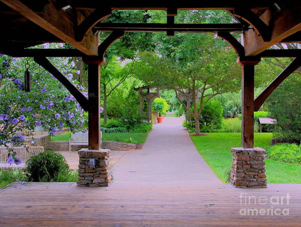 Photograph - Arboretum Shelter And Walk by Allen Nice-Webb