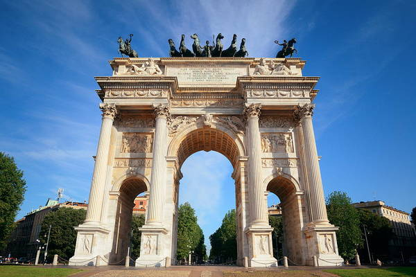 Photograph - Arch Of Peace Milan by Songquan Deng